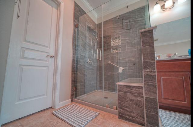 Shower Remodel Using 12 x 24 Tiles