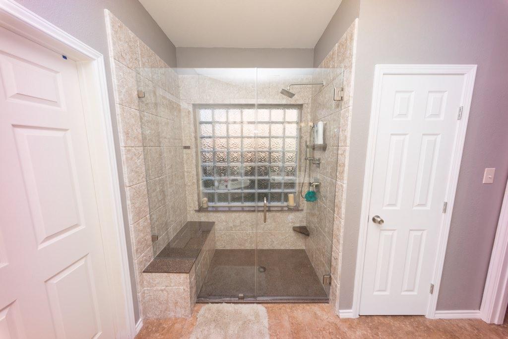 Tub To Shower - Shower To Linen Closet