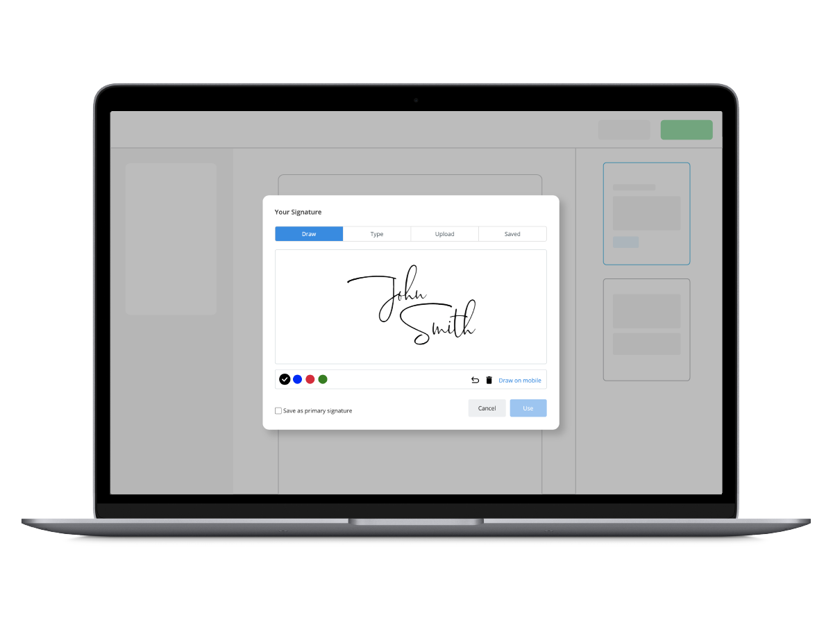 electronic signature for business