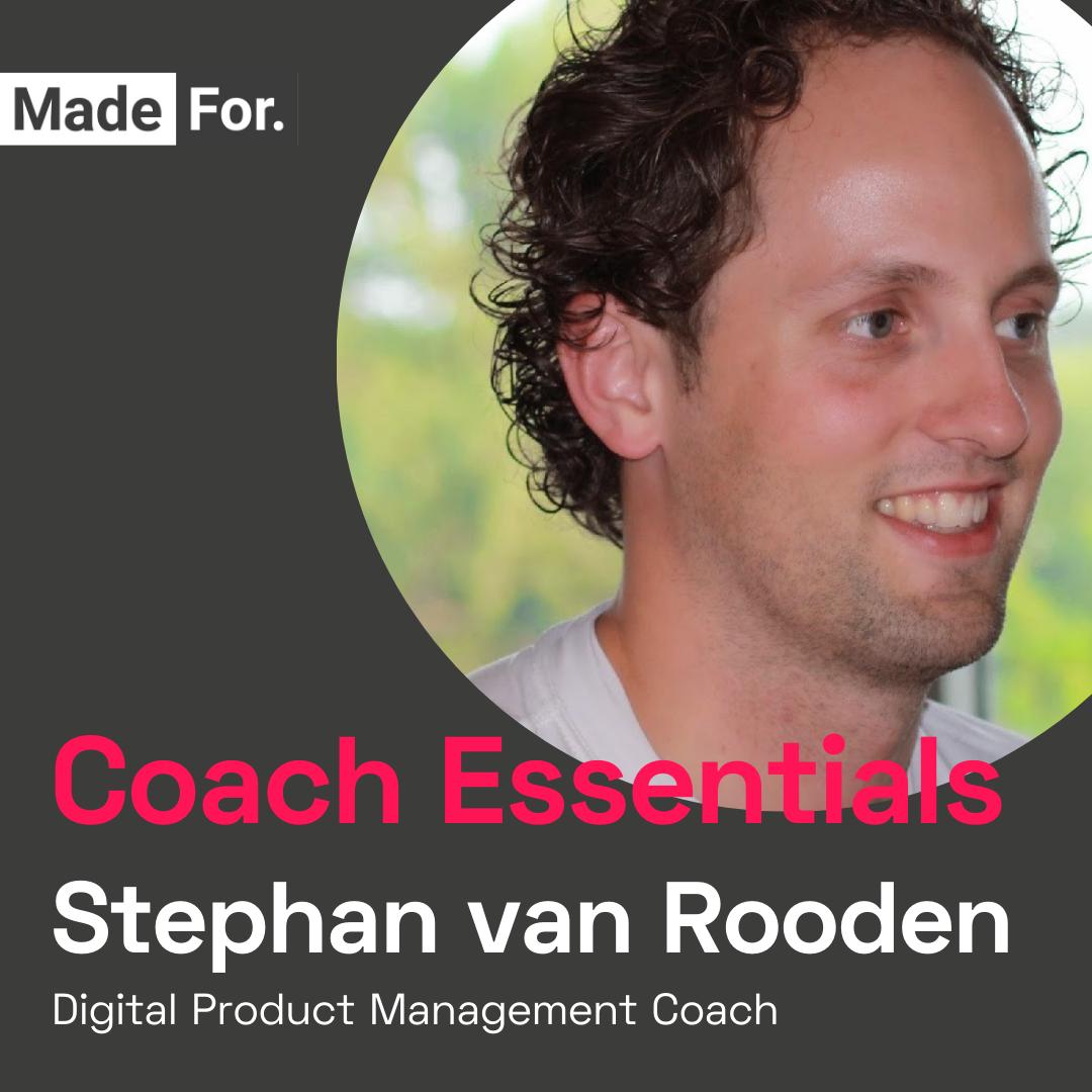 Coach Essentials | DPM Bootcamp Coach Stephan van Rooden