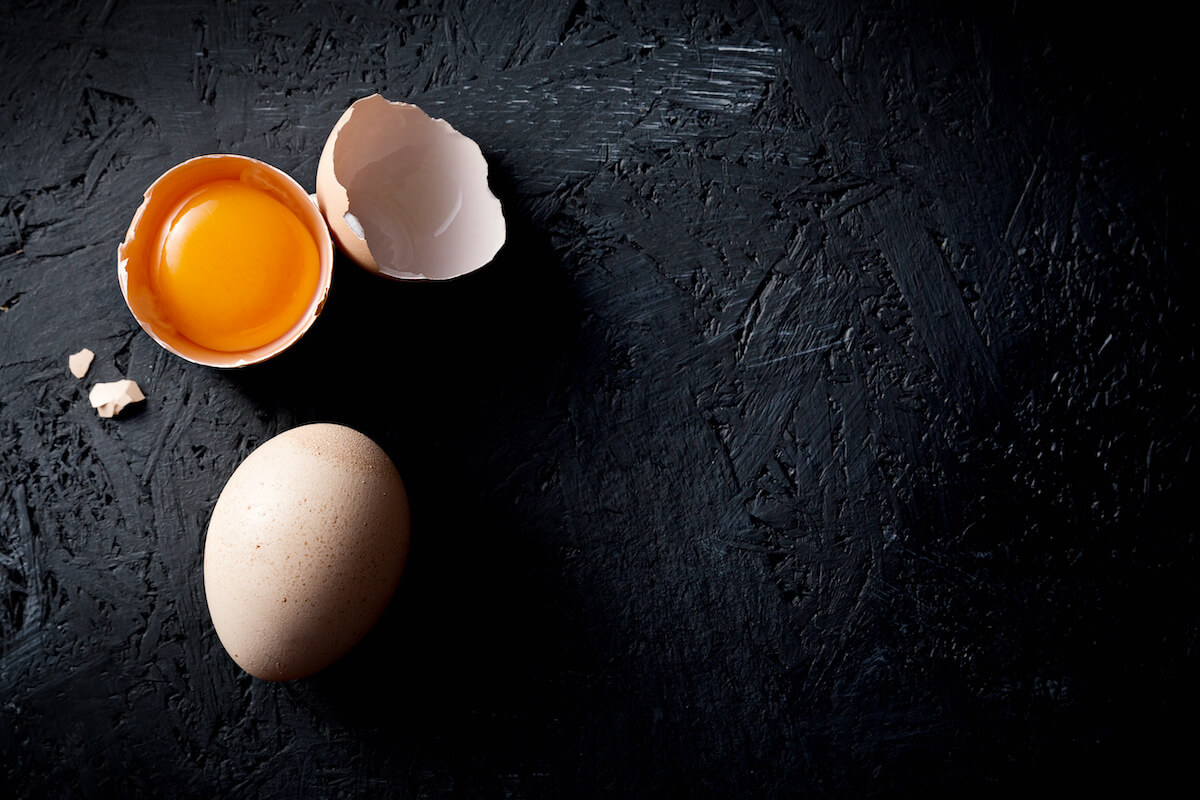 Foods with high thermic effect: 1 opened fresh egg and 1 whole egg