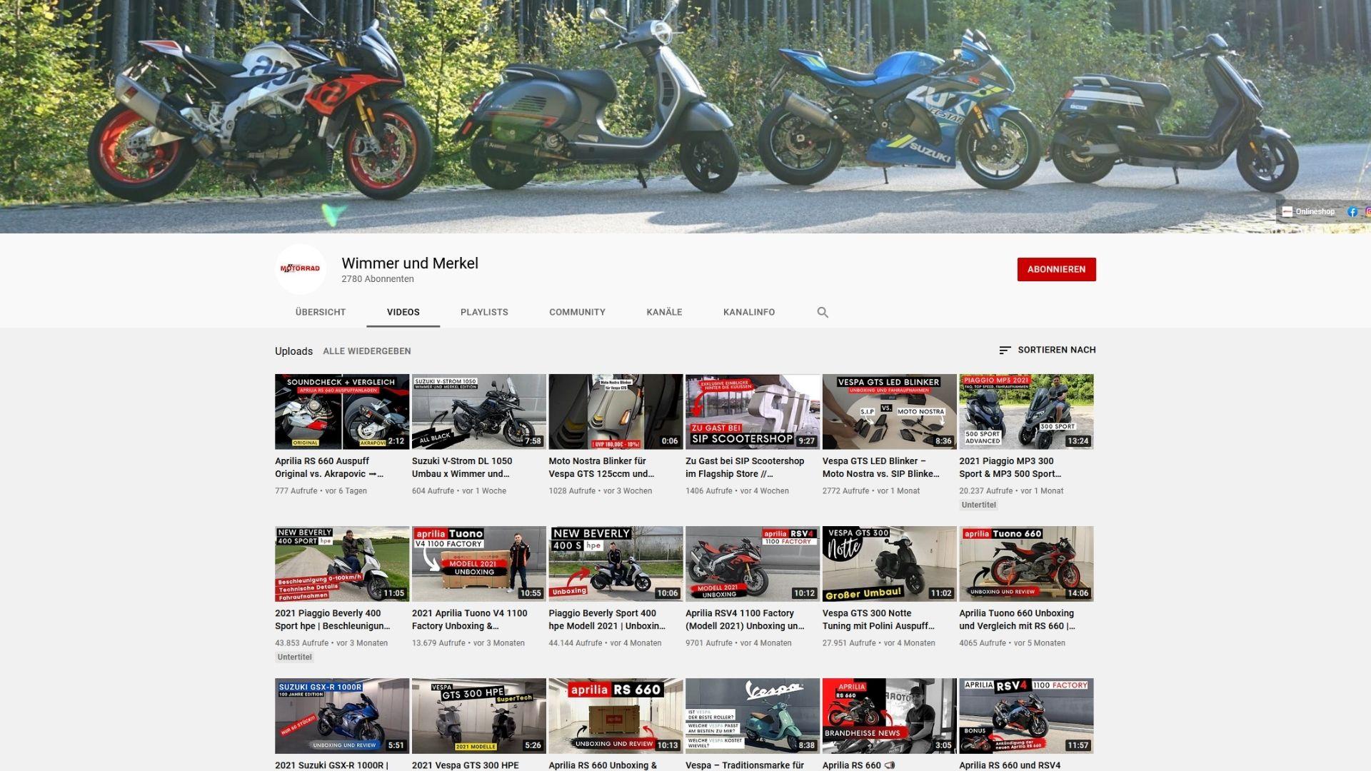 Wimmer und Merkel YouTube-Kanal