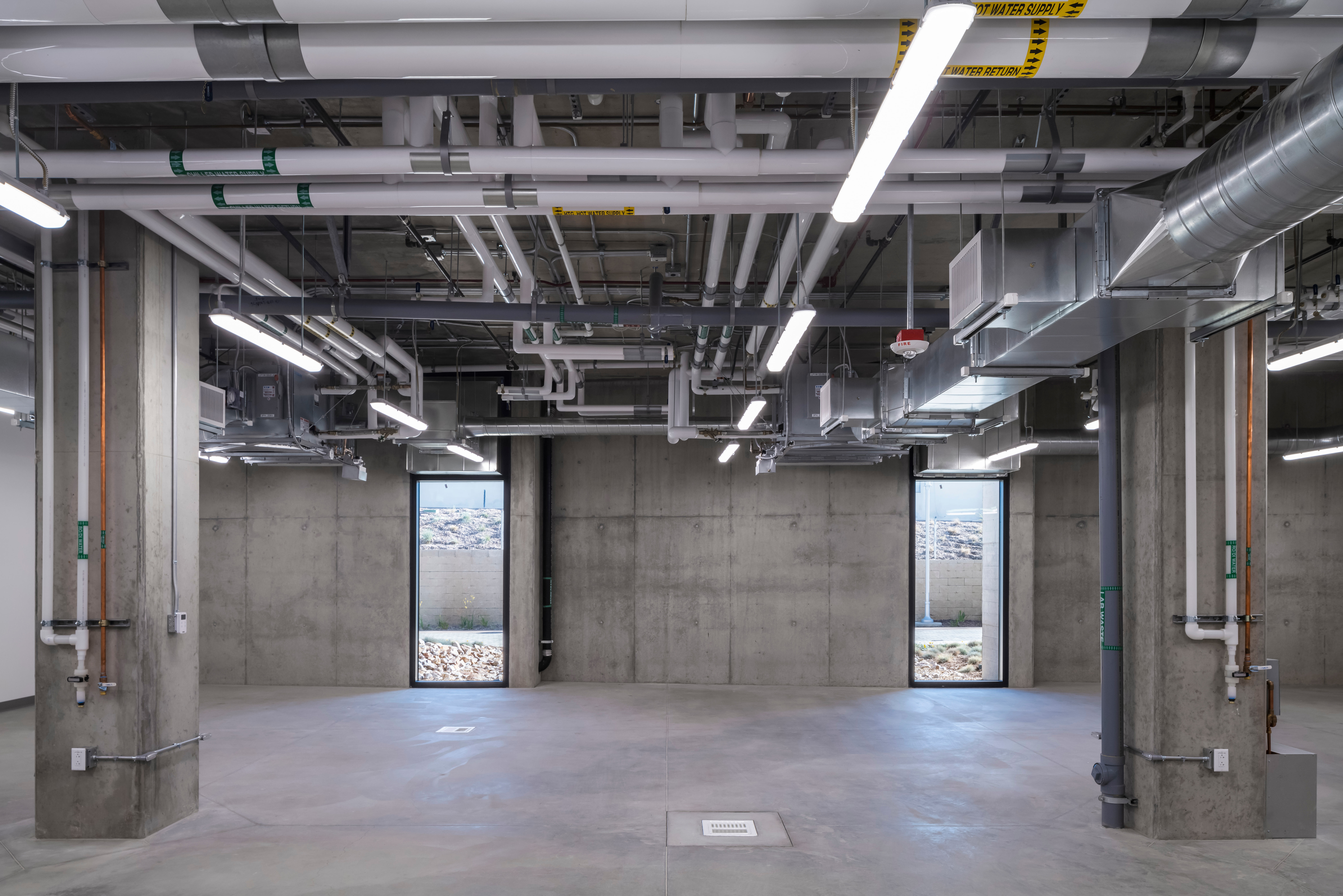UC Riverside Open Ceiling Hvac, Plumbing and Fire Protection Systems