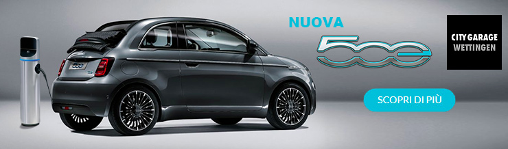 Nuova Fiat 500e - scoprila da City Garage Wettingen