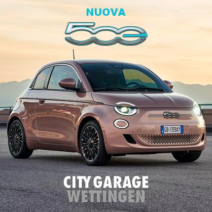 Nuova Fiat 500e, prenota il tuo test drive da City Garage Wettingen