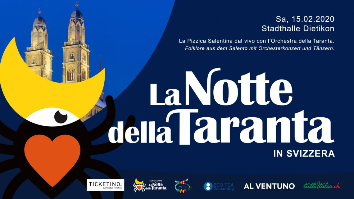 La Notte della Taranta, for the first time in Switzerland with its Popular Orchestra