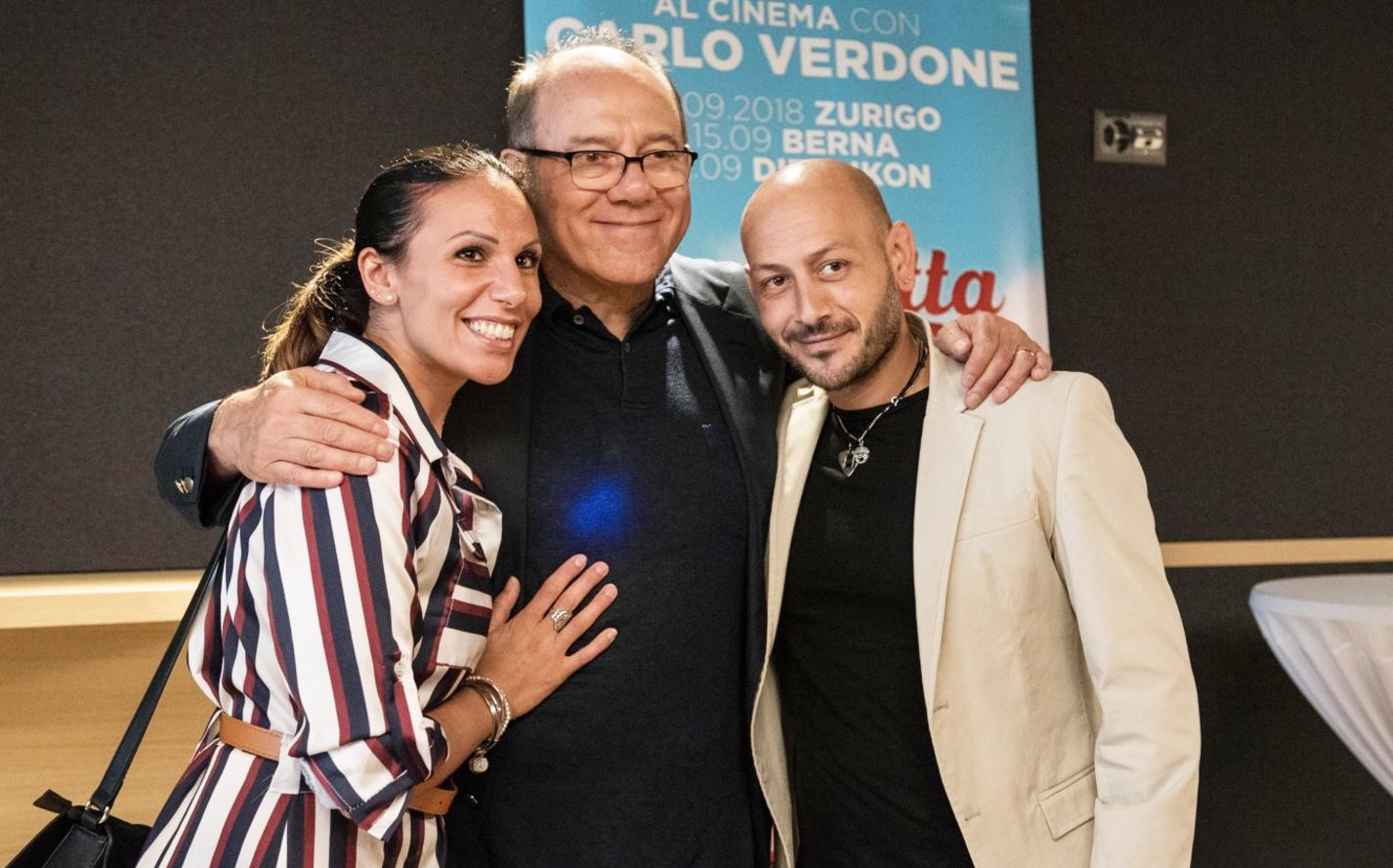 Standing ovation per il mito del cinema italiano Carlo Verdone