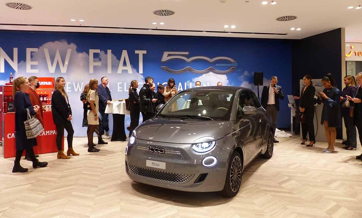 """Casa 500: anteprima della Nuova Fiat 500 """"La Prima"""" in esclusiva a Jelmoli"""