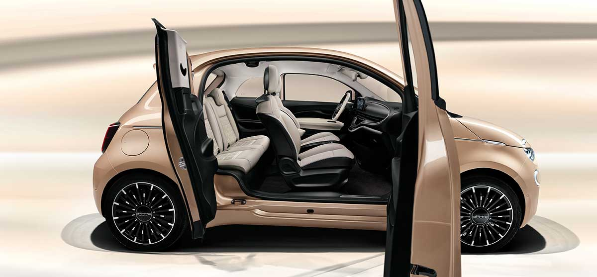 Introducing the new Fiat 500 3 + 1  Fiat's city car, but always with an eye to the future