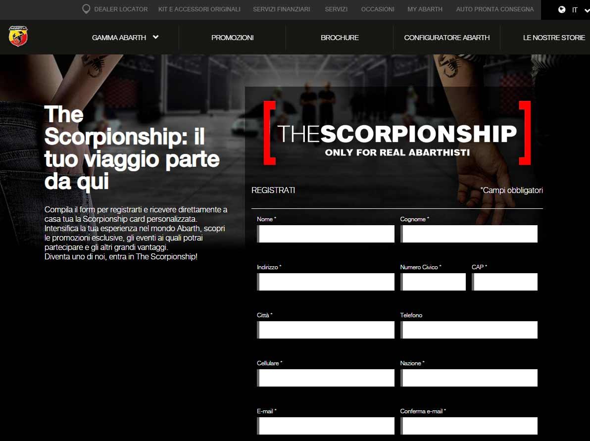 The Scorpionship Abarth Community Tuttoitalia