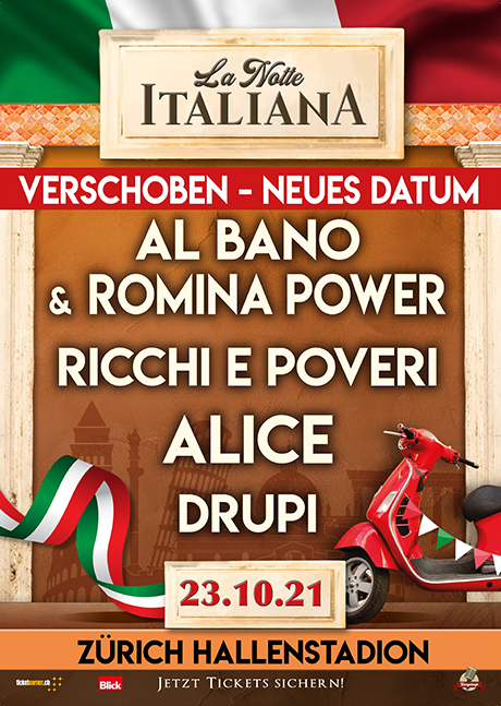 La Notte Italiana - Al Bano e Romina Power - Ricchi e Poveri - Alice - Drupi