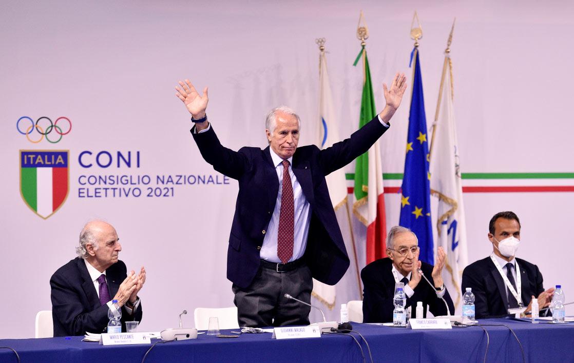 Giovanni Malagò wurde zum Präsidenten von CONI wiedergewählt