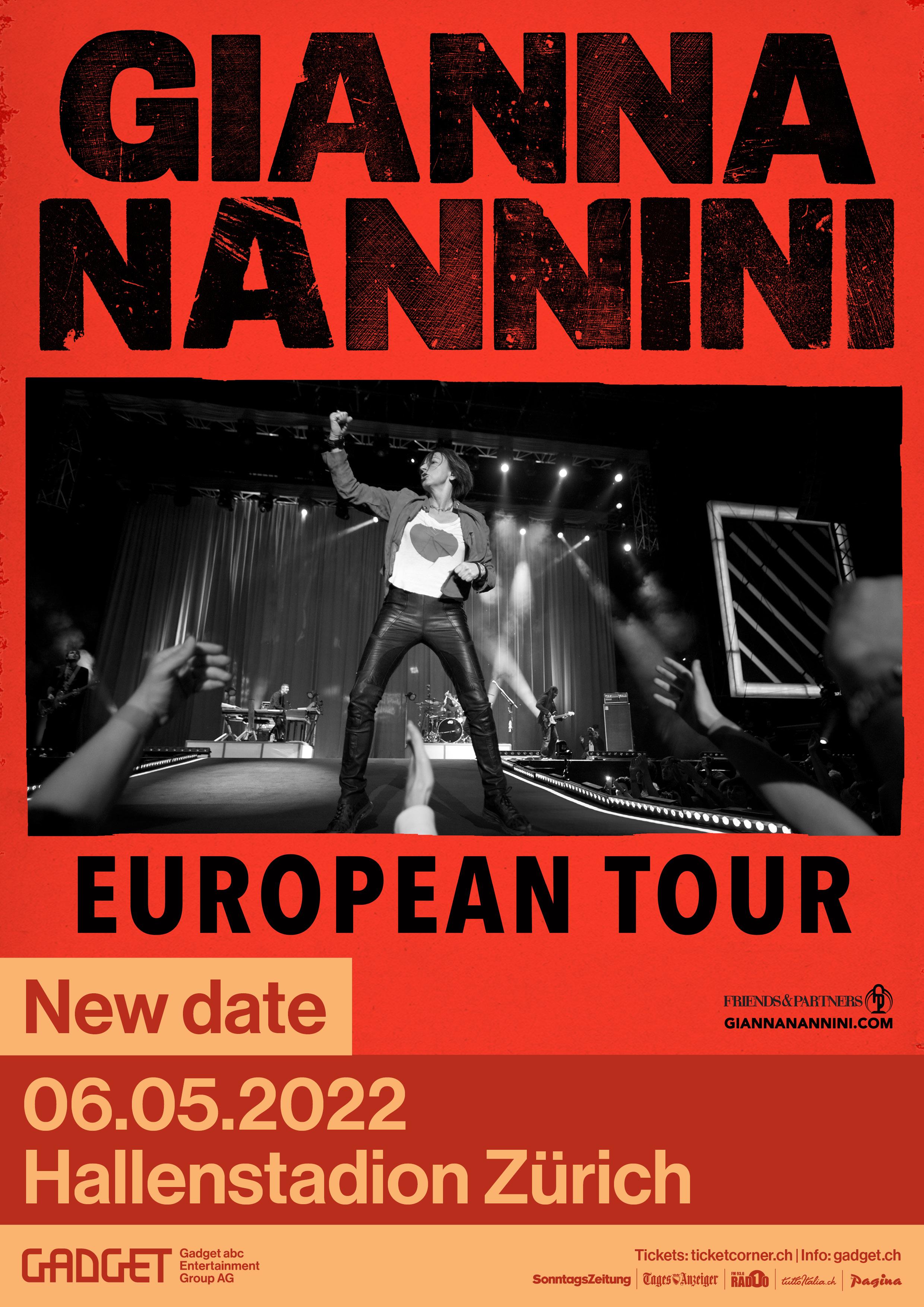 Gianna Nannini live a Ginevra 05.05.2022 e Zurigo 06.05.2022