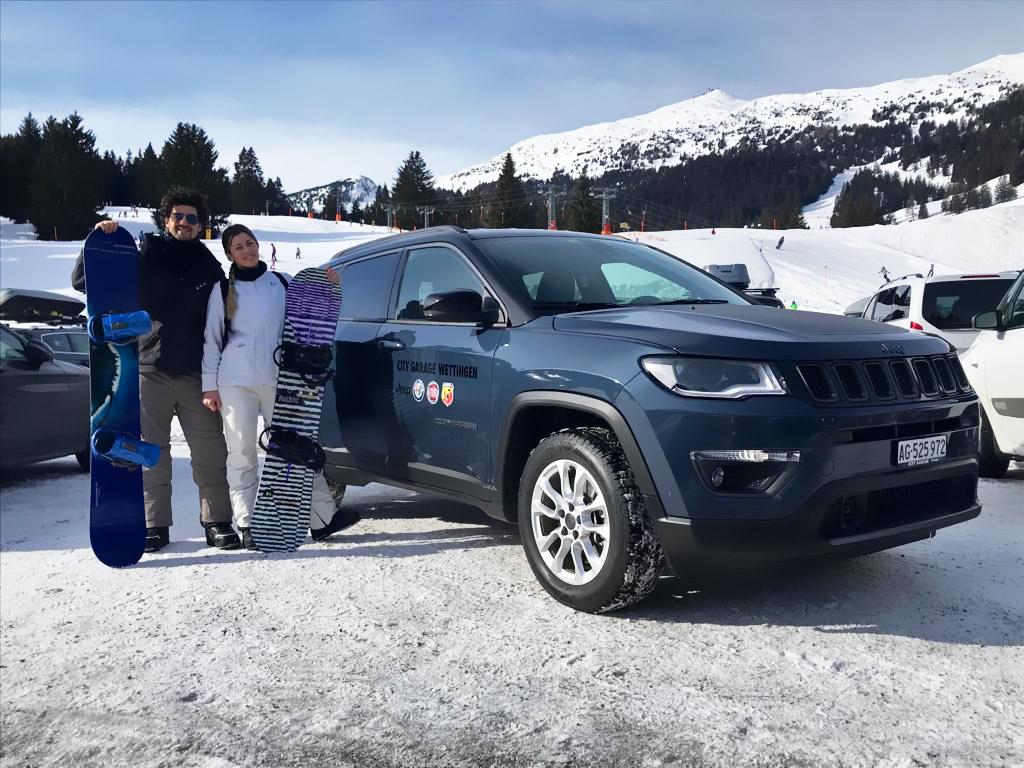 A Davos con la nuova Jeep Compass 4xe ibrida