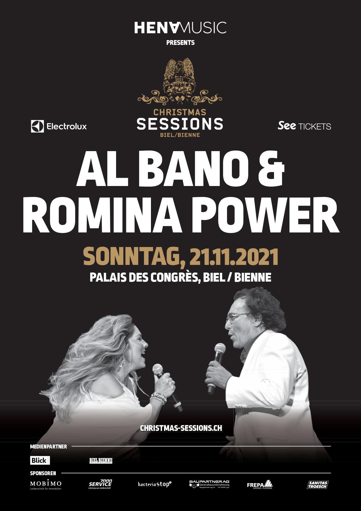 Al Bano und Romina Power Konzert Sonntag 21. November 2021, 19 Uhr - Kongresshaus, Biel