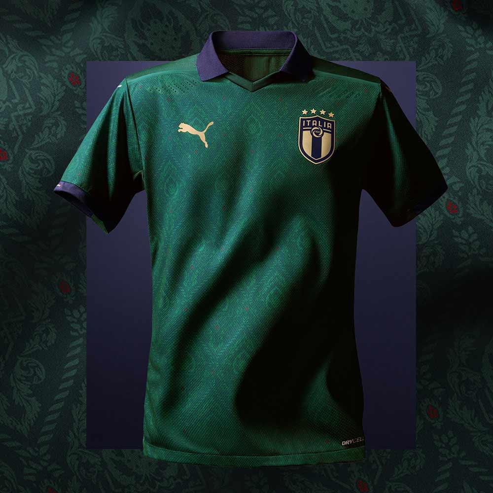 Puma maglia calcio italia 3 replica verde campagna rinascimento Tuttoitalia