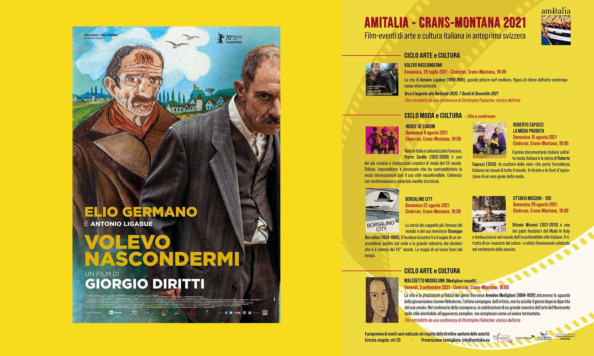 Associazione AMITALIA - Crans-Montana 2021, film-eventi di arte e cultura italiana