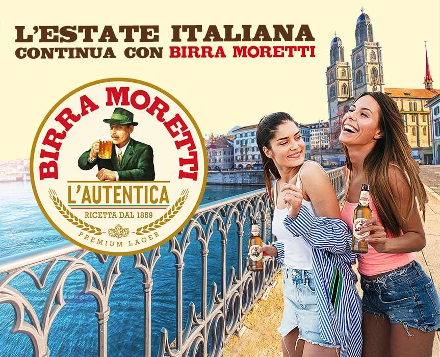 L'estate italiana in Svizzera continua con Birra Moretti