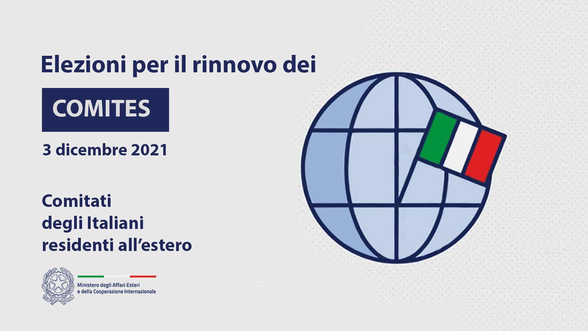 Elezioni COMITES in Svizzera (Comitato degli italiani all'estero) 3 dicembre 2021