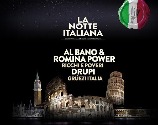 Al Bano e Romina, Ricchi e Poveri, Alice e Drupi i quattro grandi artisti italiani riuniti a Zurigo