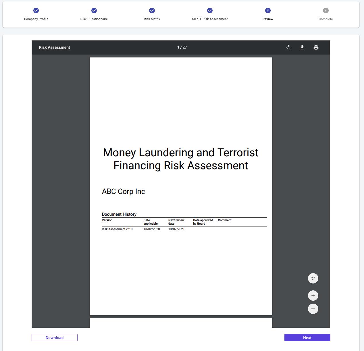 bronID ML/TF Risk Assessment Report