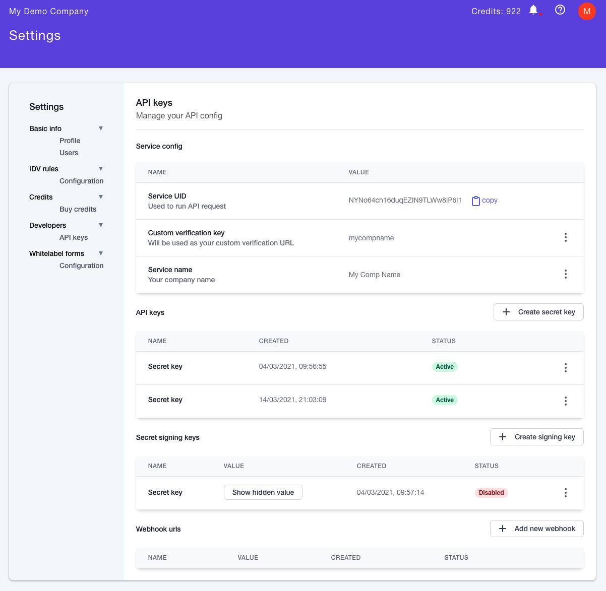 bronID KYC and KYB API Setup