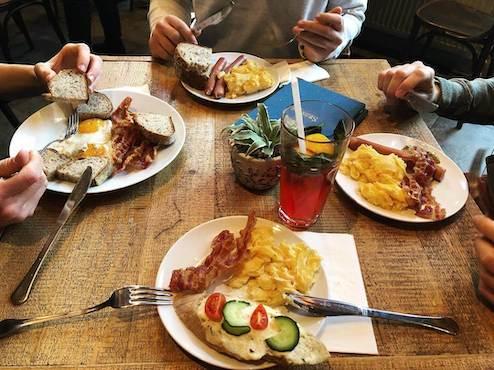 Allwin team having breakfast