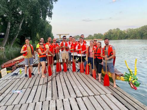 Allwin team canoeing