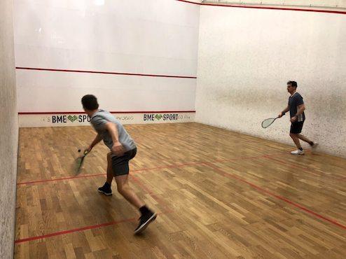 Allwin team playing squash