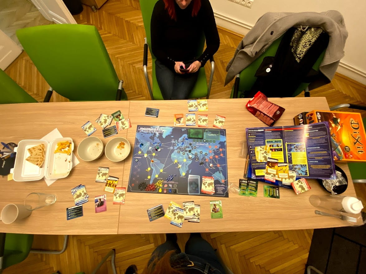 remote talent manager board game pandemic