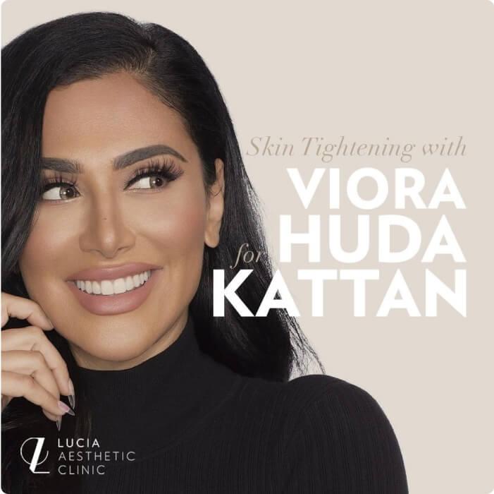 Skin Tightening with Viora for Huda Kattan