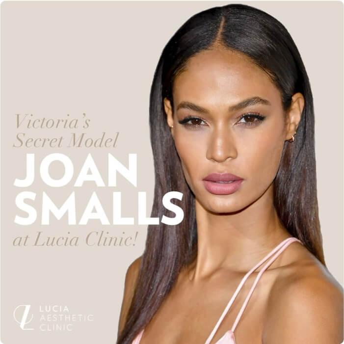 Victoria's Secret Model Joan Smalls at Lucia Clinic!
