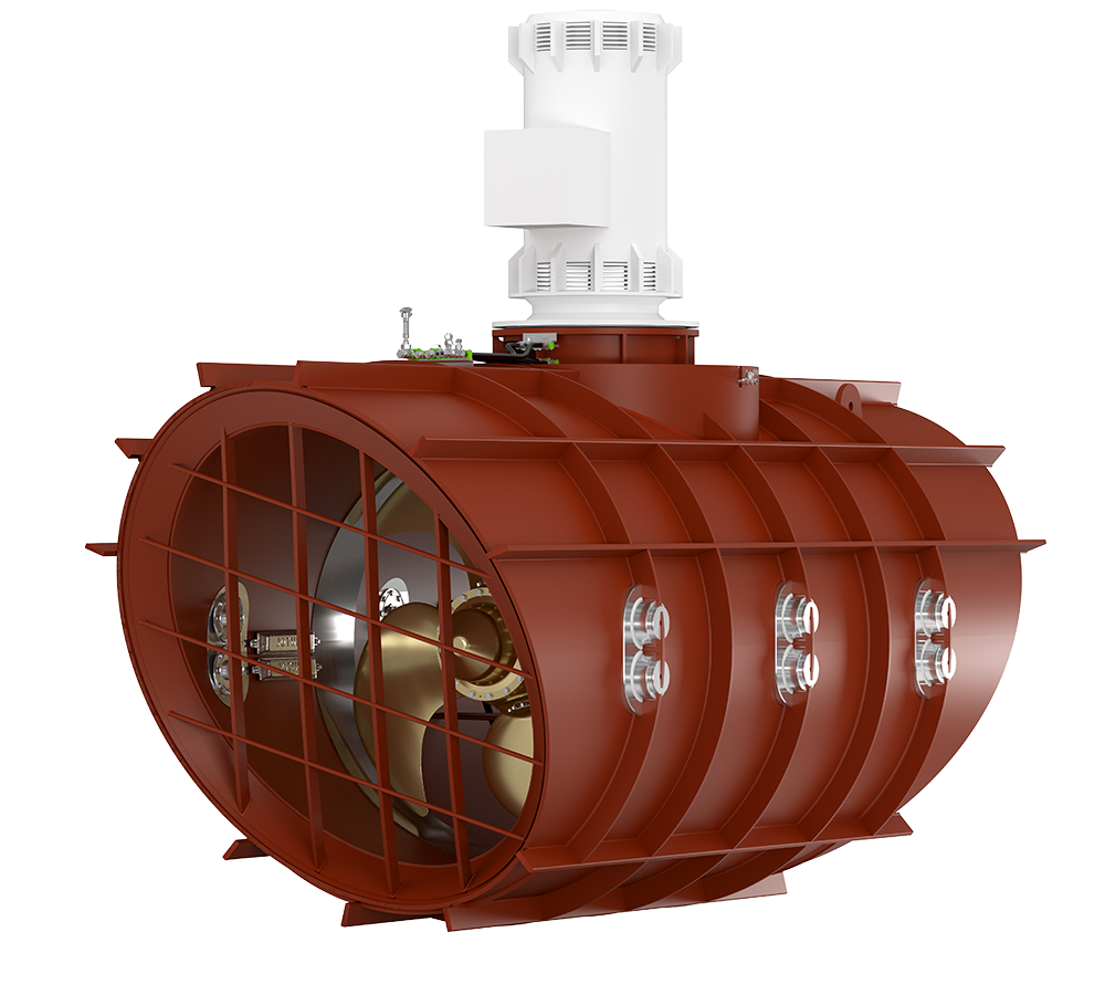 Brunvoll Low Noise Tunnel Thruster, Super Silent, resiliently mounted, full length double tunnel
