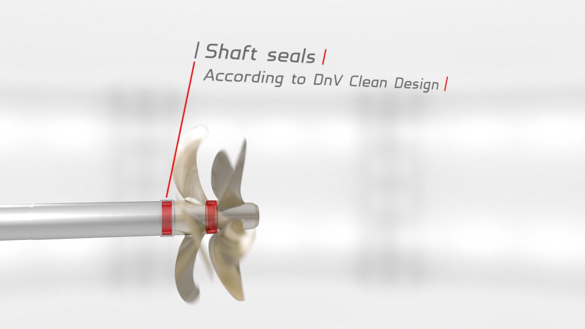 Brunvoll CRP Contra Rotating Propeller Shaft seal arrangement DnV Clean Design