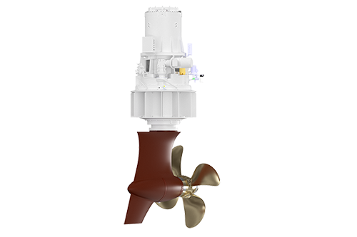 Azimuth Thruster with Pull Open Propellers