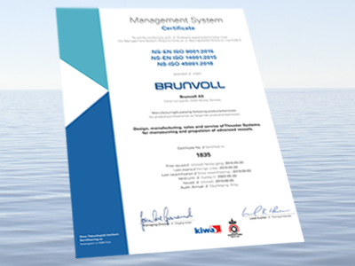 Management System Certificate, Brunvoll AS