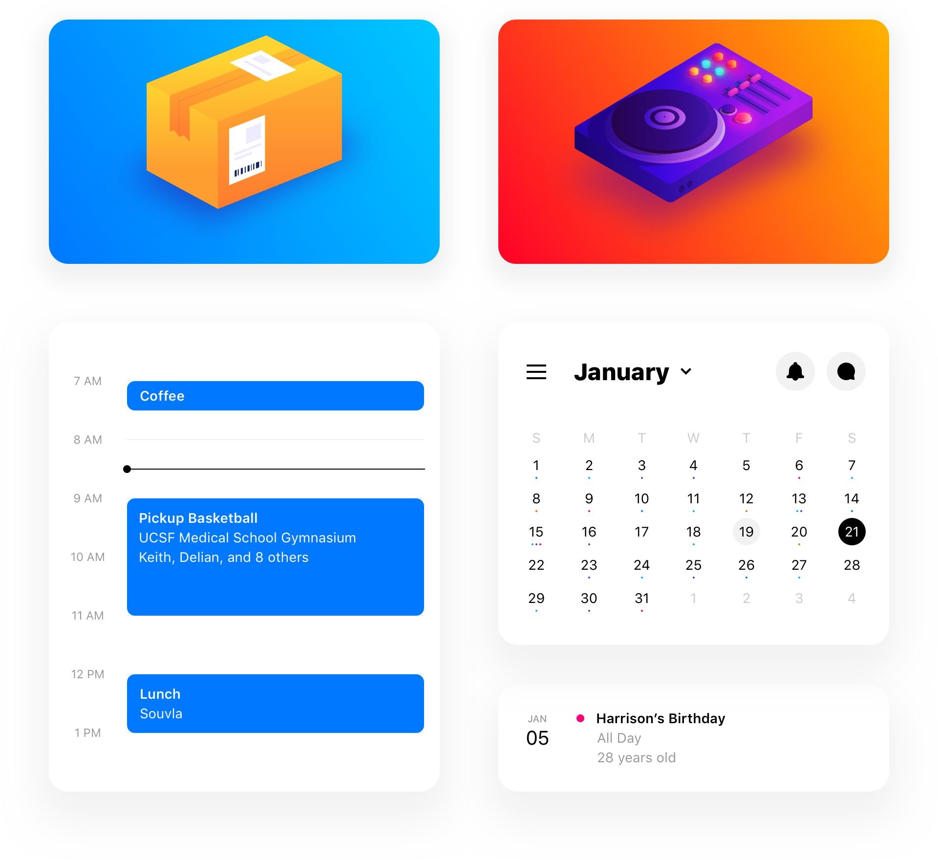 Calendar and Reminders Intro Image