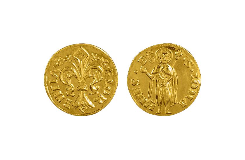 gold florin coin florence torrini 1256
