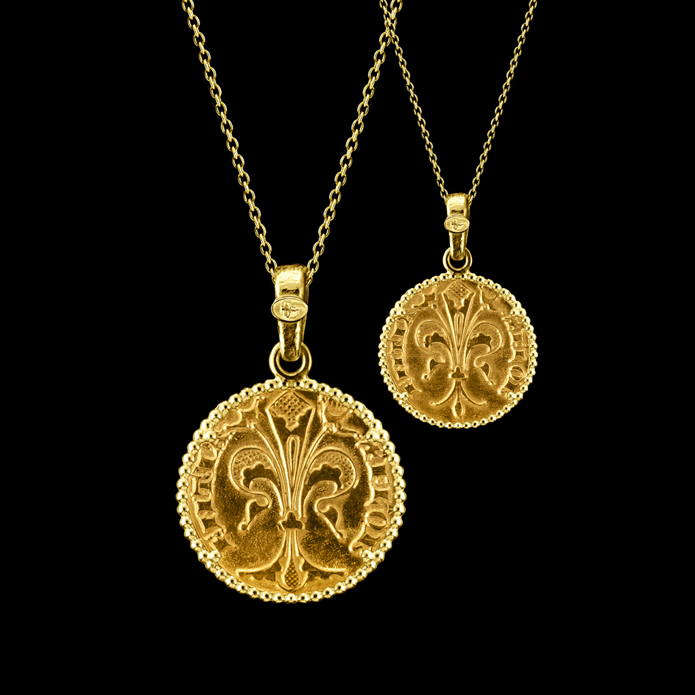 original florin coin necklace 24kt gold handmade florence jewel torrini perfect 1369