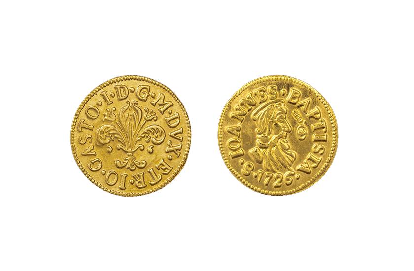 mezzo zecchino half Gold florentine coin florin florence jewelry torrini