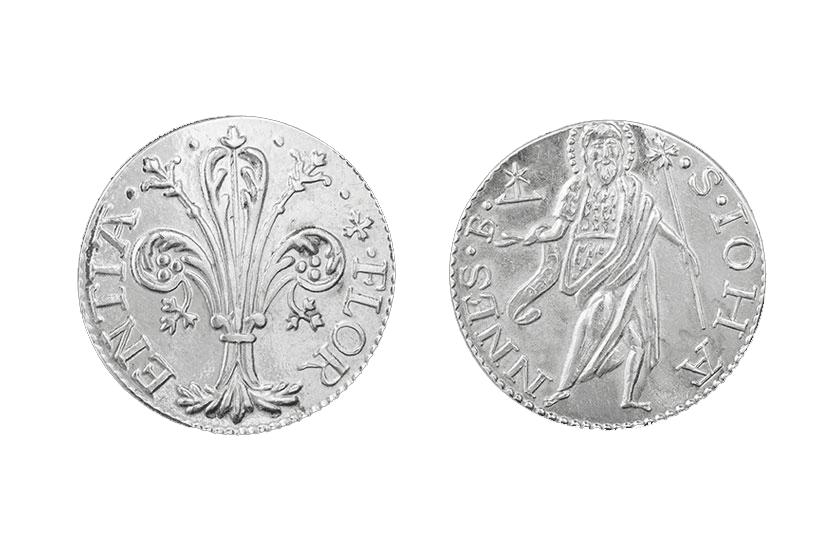 silver florentine coin florin florence jewelry quinto scudi torrini