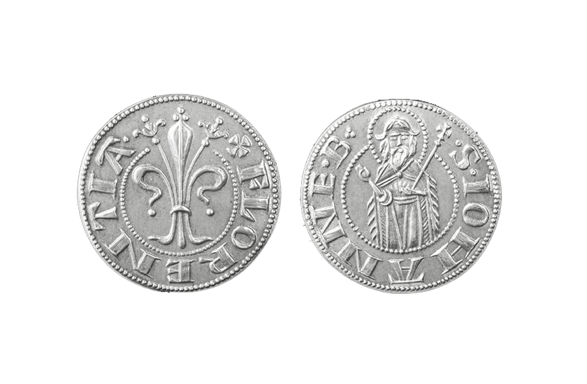silver florentine coin florin florence jewelry grosso due soldi torrini
