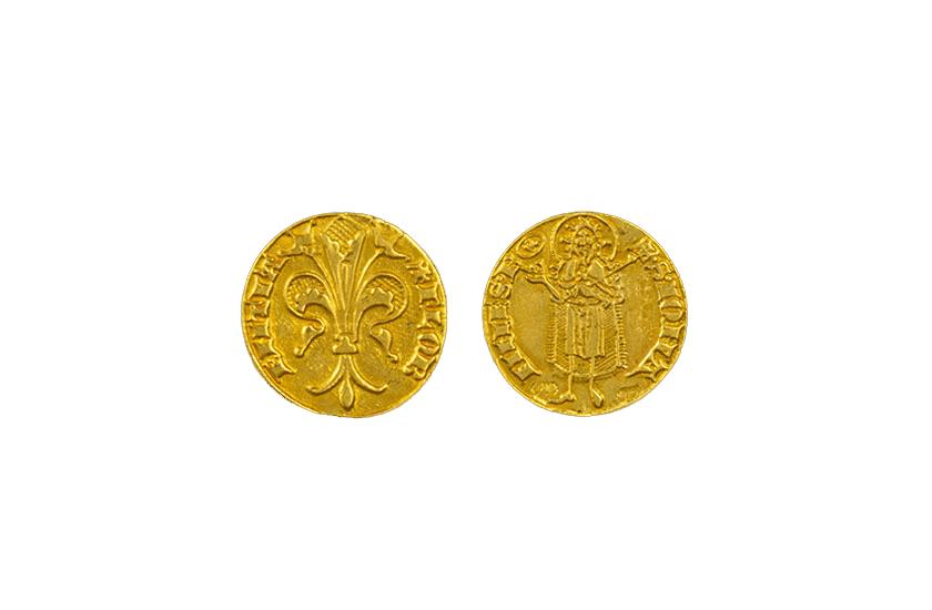 gold florentine coin florence jewelry quarter florin torrini