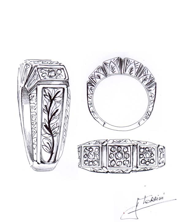 torrini sketch ring jewelry