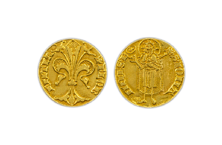 gold florin coin florence torrini 1369