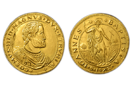 piastra gold florentine coin florin florence jewelry torrini