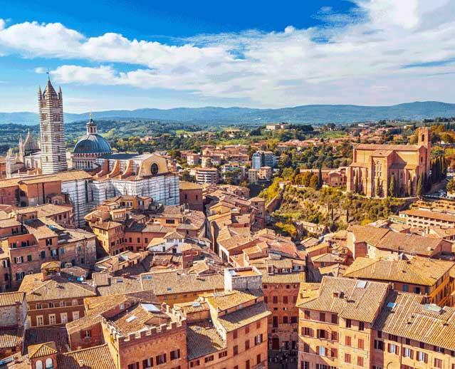 siena tuscany italy view