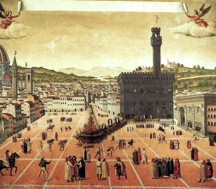 florence signoria square painting