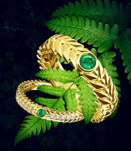 emerald gold rings alloro