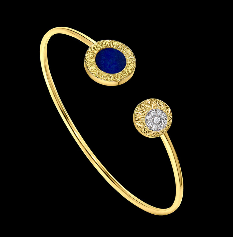 lapis lazuli bracelet engraved